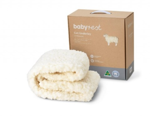 Babyrest Lambswool Cot Underlay - Large Cot up to 770mm wide
