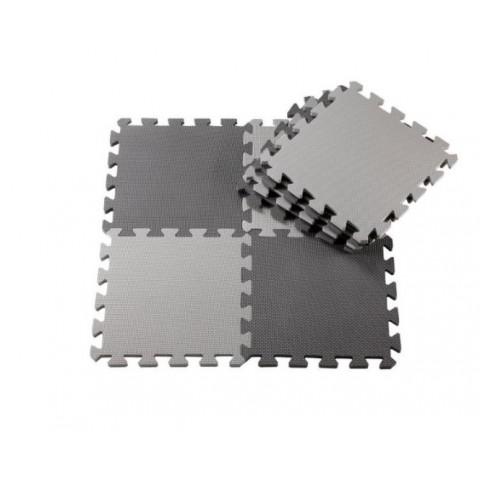 Anstel Puzzle Floor Mat - 24 pack - Light Grey / Dark Grey