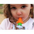 Cherub Baby Food Pouch Spout (Pink & Orange) 2pk