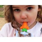 Cherub Baby Food Pouch Spout (Pink & Orange) 2pk